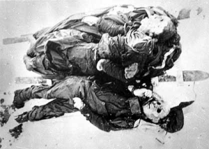 The bodies of Zolotarev and Kolevatov.