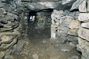 Inside one of the megalithic structures on Vera Island