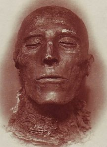 The head of Seti I's mummy